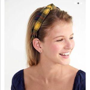 Plaid Top Knot Headband